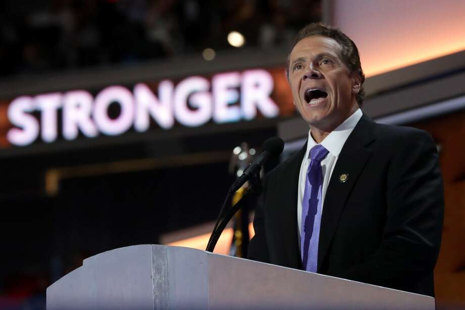 New York Gov. Andrew Cuomo addressed the Democratic National Convention in Philadelphia on Thursday, July 28, 2016.