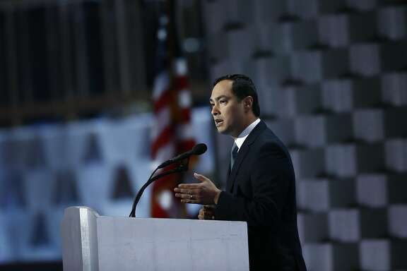 Representative Joaquin Castro, a Democrat from Texas, speaks during the Democratic National Convention (DNC) in Philadelphia, Pennsylvania, U.S., on Thursday, July 28, 2016. Division among Democrats has been overcome through speeches from two presidents, another first lady and a vice-president, who raised the stakes for their candidate by warning that her opponent posed an unprecedented threat to American diplomacy. Photographer: Andrew Harrer/Bloomberg