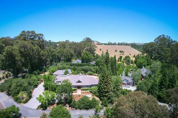 10 Somerset Place is a six bedroom luxury home occupying more than an acre in Woodside.
