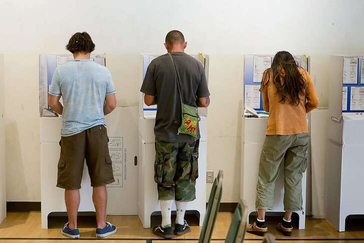 Voters at a polling place in San Diego in June 2016.