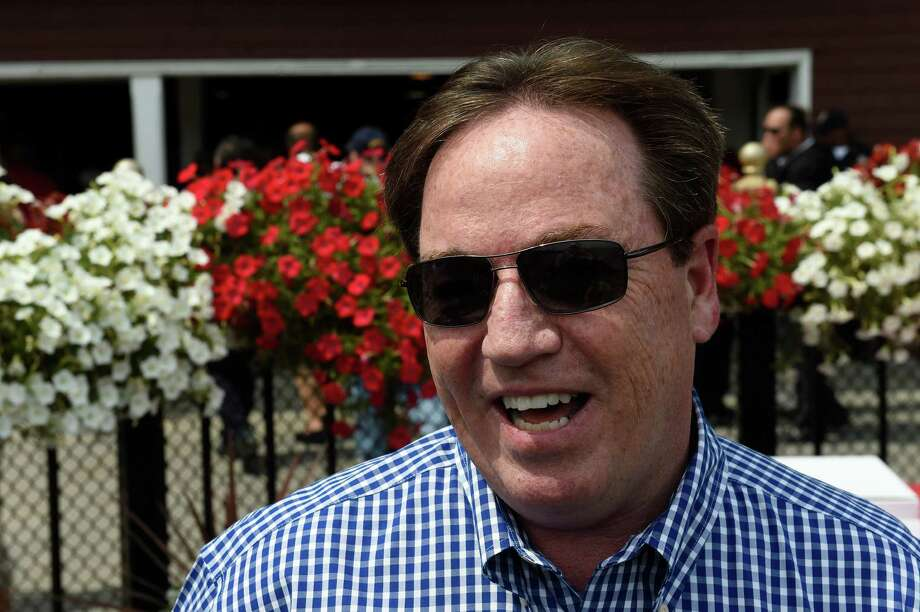 Trainer Kiaran McLaughlin got his 7th win in 10 starts  Thursday July 28, 2016 at the Saratoga Race Course in Saratoga Springs, N.Y.  (Skip Dickstein/Times Union) Photo: SKIP DICKSTEIN