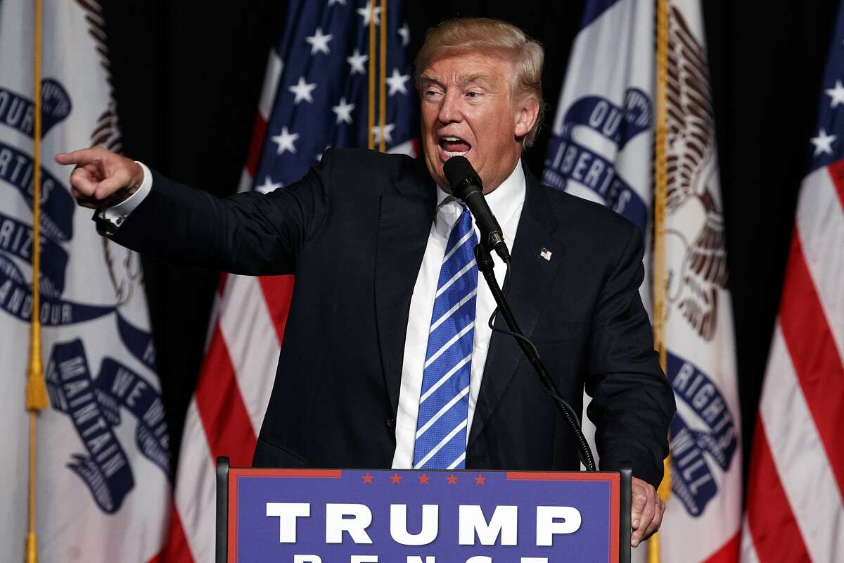 Republican presidential candidate Donald Trump speaks during a campaign rally, Thursday, July 28, 2016, in Cedar Rapids, Iowa. (AP Photo/Evan Vucci)