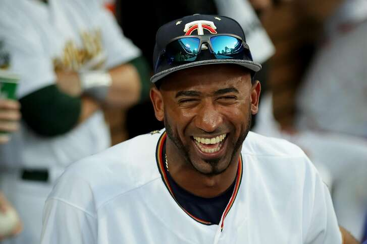 SAN DIEGO, CA - JULY 12:  Eduardo Nunez #9 of the Minnesota Twins and the American League stands in the dugout during the 87th Annual MLB All-Star Game at PETCO Park on July 12, 2016 in San Diego, California.  (Photo by Sean M. Haffey/Getty Images)