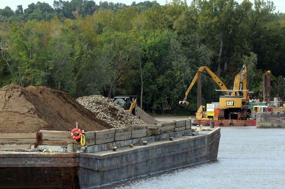Dredging operations on the Hudson River near Lock 2 on Thursday, Oct. 1, 2015, in Halfmoon, N.Y.  (Michael P. Farrell/Times Union archive) Photo: Michael P. Farrell / 10033572A