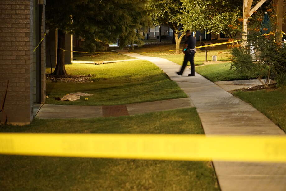 One man is dead after he was shot just outside of his apartment complex Thursday evening at the Verdant Westover Hills apartments, 1530 N.W. Crossroads. Photo: Jacob Beltran