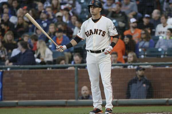 San Francisco Giants' Joe Panik against the Washington Nationals during the first inning of a baseball game in San Francisco, Thursday, July 28, 2016. (AP Photo/Jeff Chiu)