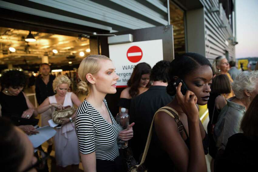 Models leave the show at the 30th Nordstrom Designer Preview at Pier 91 in Seattle on Thursday, July 28, 2016.