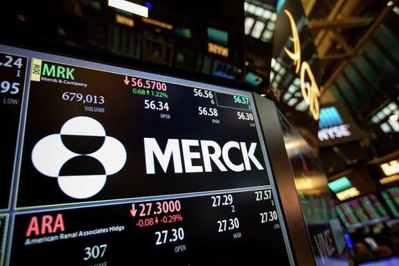 Merck posted net income of $1.21 billion, or 43 cents per share, up from $687 million, or 24 cents per share, a year earlier.