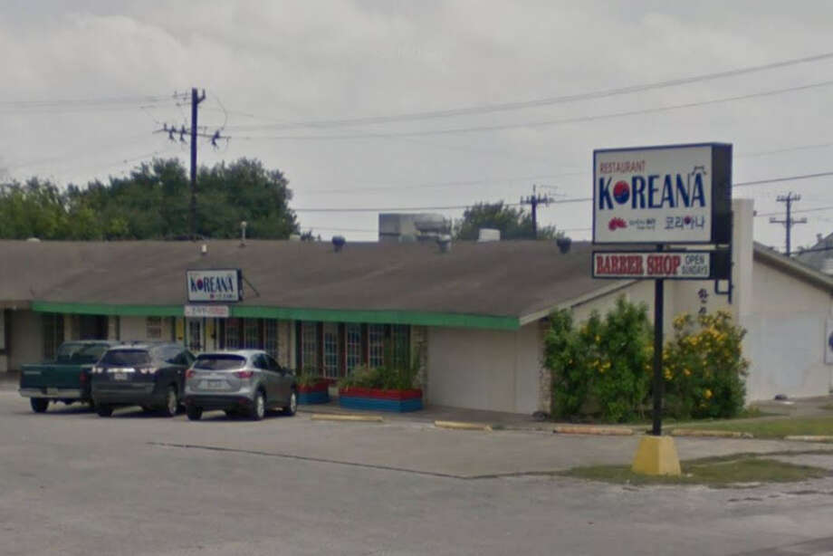 "Korean Restaurant: 2458 Harry Wurzbach, San Antonio, TX 78218 Date: 08/14/2017 Score: 74Highlights: Inspector observed rodent dropping on top of reach-in refrigerator, around refrigerator near dining room, around exterior door to kitchen; ""mold-like substance"" seen on pre-packaged, pre-cut garlic cloves; food not protected from cross-contamination (raw pork, hot dogs, raw beef, vegetables, green peppers, cut onions); ice-scoops not stored properly; ""severe charcoal buildup"" seen in vent above grill; employee hairnet seen stored on curved cutter; food must be stored at least 6 inches off floor; back porch had refrigerators and freezers, was not fully enclosed, and had rodent droppings; facility must undergo ""deep cleaning""; ""clean"" inserts utensils had food debris on them; employees' personal items stored near food prep areas; non-food contact surfaces must be clean to sight/touch; oil line next to fryers seen leaking Photo: Google Street View / Maps"