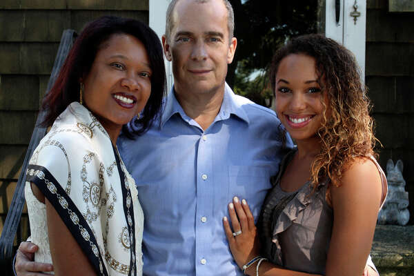 Greg Cann is a candidate for the Stratford Town Council in Dist. 5. He's here with his wife, Immacula, left, and their daughter Cathy in this file photo.