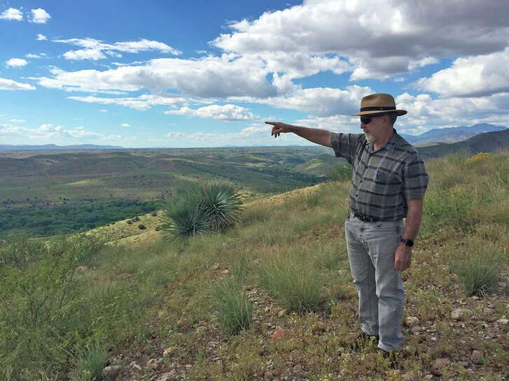 Norm Gaume at the Gila Valley in New Mexico. Diversion backers believe new sources of water can revive farming in the valley.
