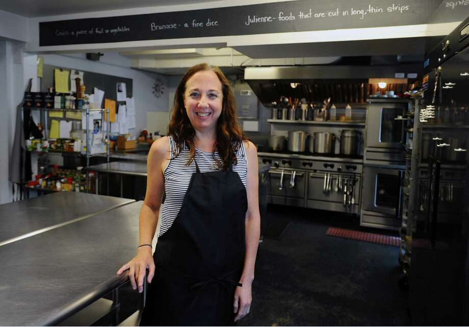 Lynne Pasquale, chef and owner of Friends & Company Kitchen in Wilton, believes people are looking for the kind of healthy sweet treats her business creates. Photo: Michael Cummo / Hearst Connecticut Media / Stamford Advocate
