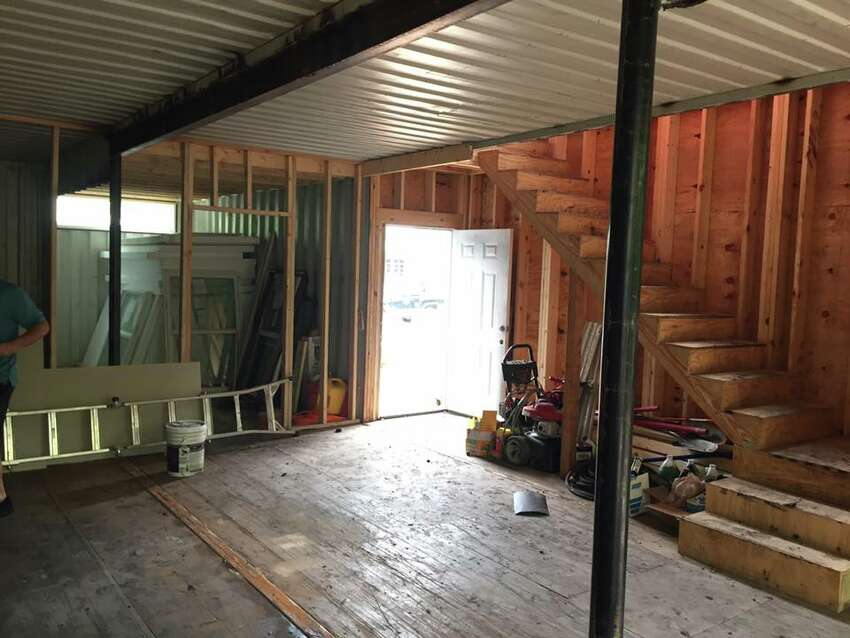 Interior of the container-style home at 910 Wyoming Street.