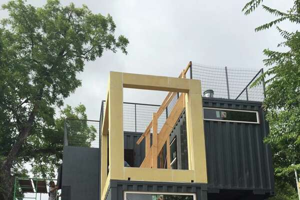 Container home at 910 Wyoming Street.
