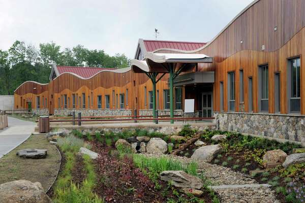 The media and the general public got their first look Friday, July 29, 2016,  at the new Sandy Hook Elementary School school built to replace the one where 20 first-graders and six educators were massacred in December 2012.
