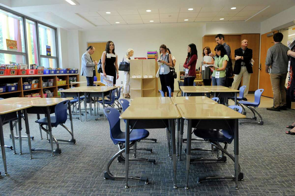 A third grade classroom in the new Sandy Hook Elementary School. The media and the general public got their first look Friday, July 29, 2016, at the new Sandy Hook Elementary School school built to replace the one where 20 first-graders and six educators were massacred in December 2012.