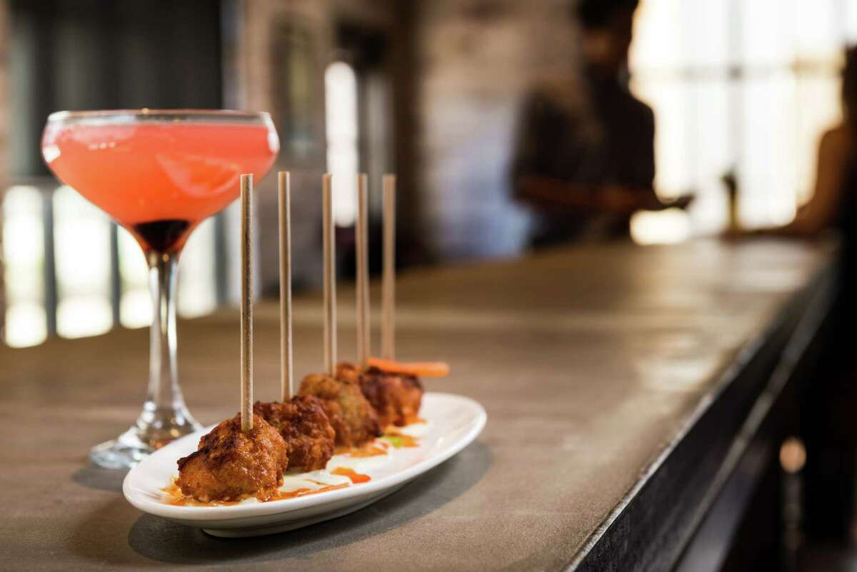 Bowl & Barrel, a bowling and dining experience, is opening at CityCentre, Houston, on Aug. 8. Shown: Meatballs appetizer.