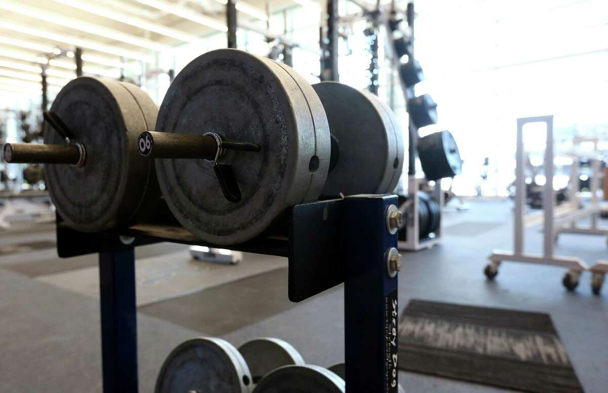 The team weight room is seen during a tour of the Brian Patterson Sports Performance Center, at Rice University, Friday, July 29, 2016, in Houston.