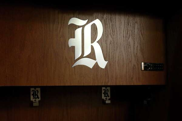 The team locker room is seen during a tour of the Brian Patterson Sports Performance Center, at Rice University, Friday, July 29, 2016, in Houston.