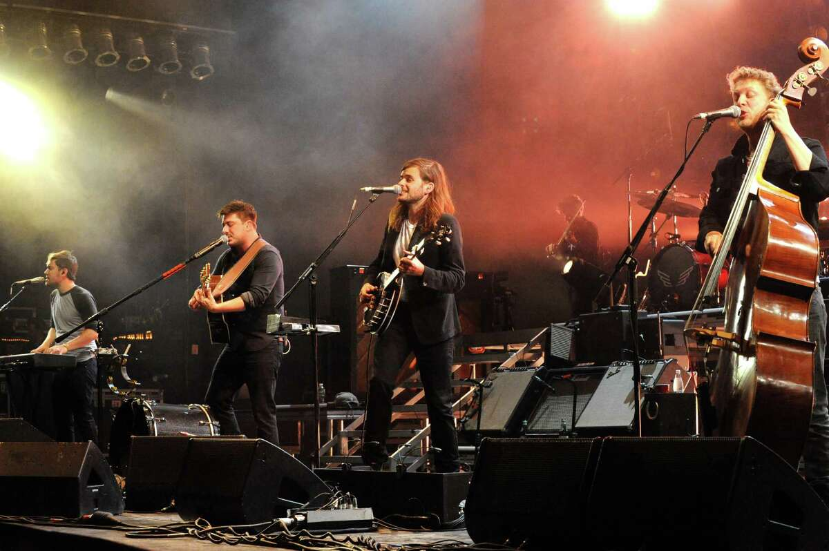 The Grammy winning band Mumford & Sons perform at SPAC on Wednesday June 15, 2016 in Saratoga Springs, N.Y. (Michael P. Farrell/Times Union)