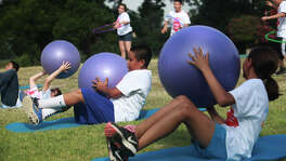 This file photo shows kids participating in boot camp at Roosevelt Park. Former Mayor Julián Castro launched the Mayor's Fitness Council, which is continuing under Mayor Ivy Taylor.
