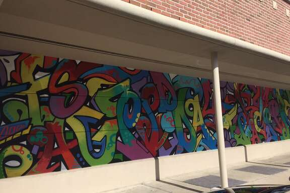Gonzo247's latest mural is seen at Rice Village on Friday, July 29, 2016.