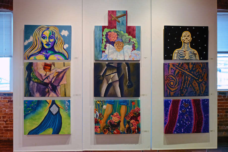 """Professional members of Stamford's nonprofit Loft Artist Association have mounted """"Exquisite Corpse"""" (or in French, """"Cadavre Exquis""""), a homage to the 20th century French Surrealists, through Aug. 28. Photo: Deborah Loeb Bohren /Contributed Photo"""