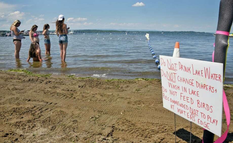 Browns Beach on Saratoga Lake reopens Friday July 29, 2016 in Stillwater, NY. (John Carl D'Annibale / Times Union) Photo: John Carl D'Annibale