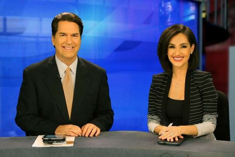 KSAT's Steve Spriester and Isis Romero anchor the No. 1 10 p.m. news show in San Antonio. Photo: KSAT