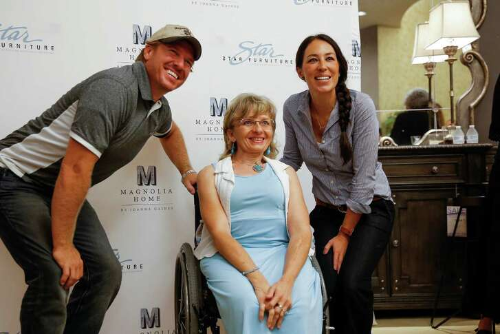 Chip and Joanna Gaines, from the HGTV show Fixer Upper, meet fans at Star Furniture to launch a new line of home furnishings Thursday, July 28, 2016 in Houston.( Michael Ciaglo / Houston Chronicle )