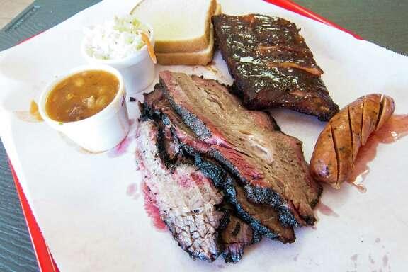 Brisket, ribs and sausage at Ray's BBQ in Huntington Park, Calif.