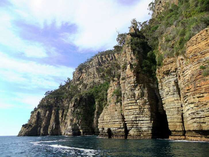 The sea cliffs at Tasman National Park are among the tallest in the world. Those formations, along with many caves, can be seen up-close from speed boat rides offered by local tour companies.