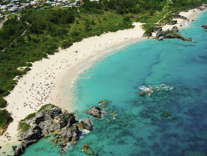 Bermuda's Horseshoe Bay, where gorgeous stretches of sand really do shimmer pinkly under the sun. (Bermuda Tourism Authority/TNS)