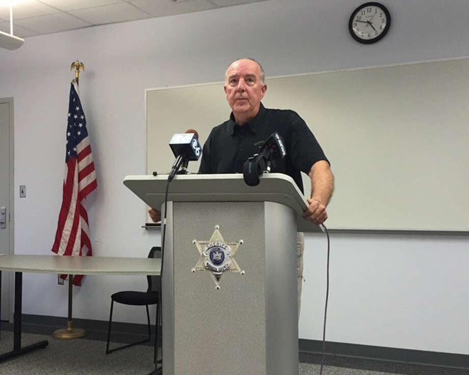 Warren County Sheriff Bud York speaks on July 29, 2016. (Bethany Bump/Times Union)
