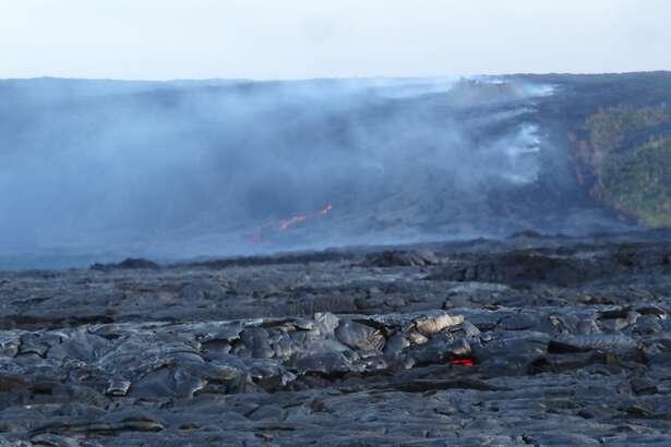July, 2016 photos of the Kīlauea lava flow in Hawaii.
