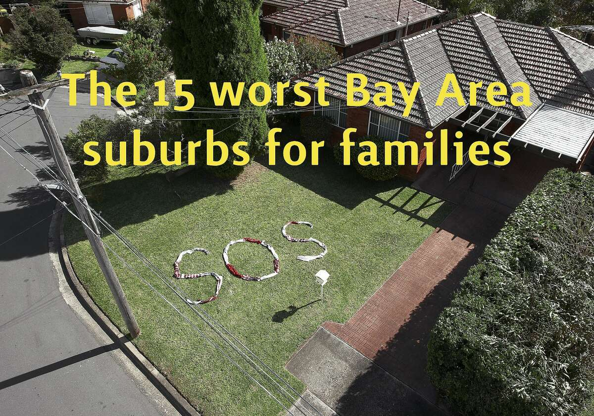 Niche, the neighborhood review site, ranked 100 suburbs in the Bay Area on their suitability for families. The following 15 lagged behind the rest. Also see the best 15 later in the slideshow.