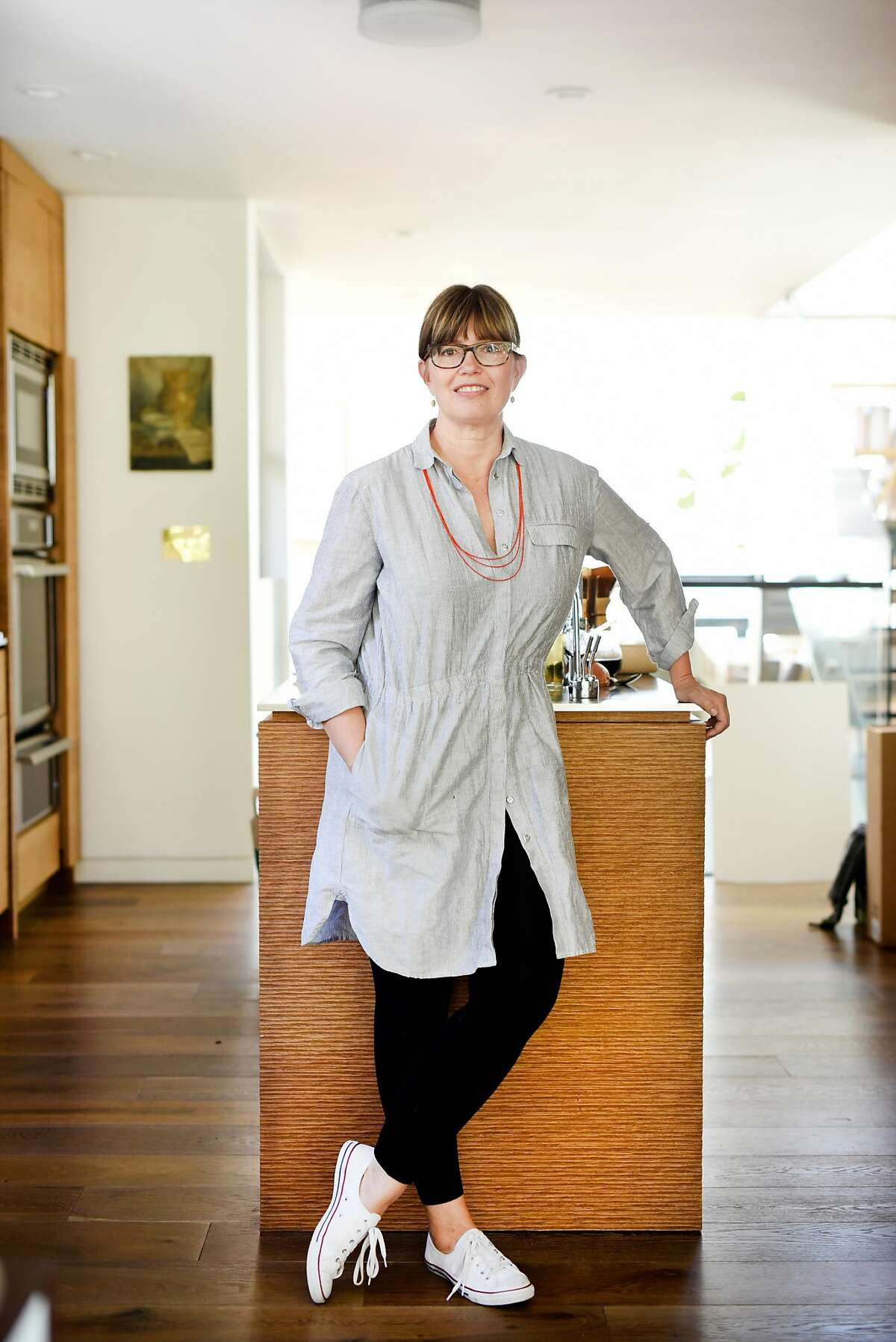 Chef and co-owner of Tartine Bakery Elisabeth Prueitt poses for a portrait while working on a cookbook at her home in San Francisco, CA Friday, July 29, 2016.