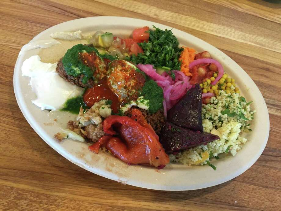 Falafel plate with everything at Moshe's Golden Falafel. Photo: File Photo /San Antonio Express-News