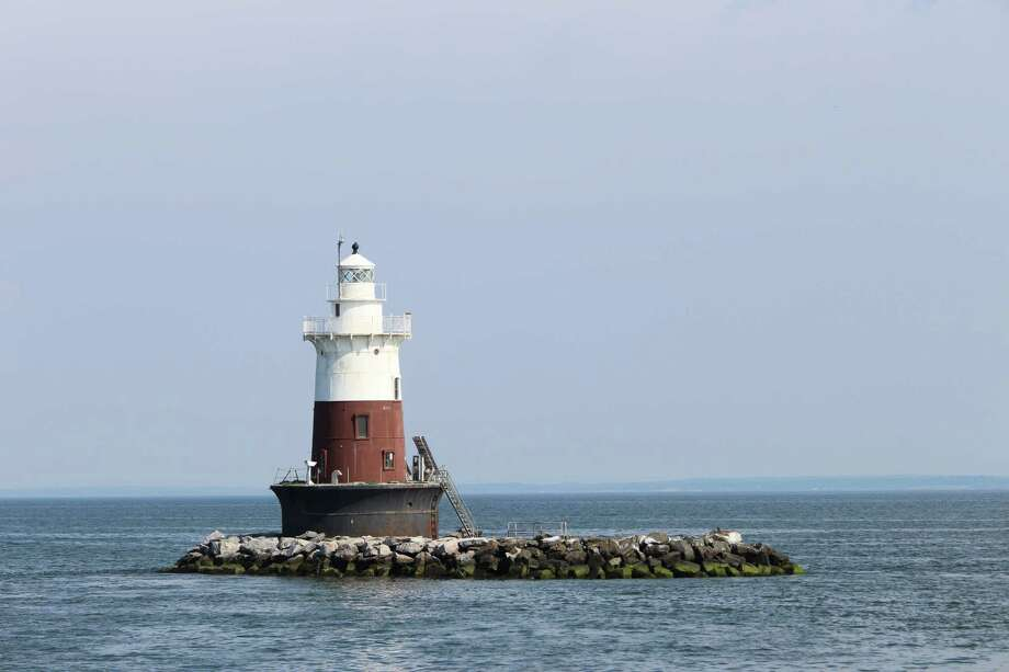 Green's Ledge Lighthouse in Norwalk is up for public auction, photographed July 28, 2016 in Norwalk, Conn. Photo: Kaitlyn Krasselt / Hearst Connecticut Media / The Hour