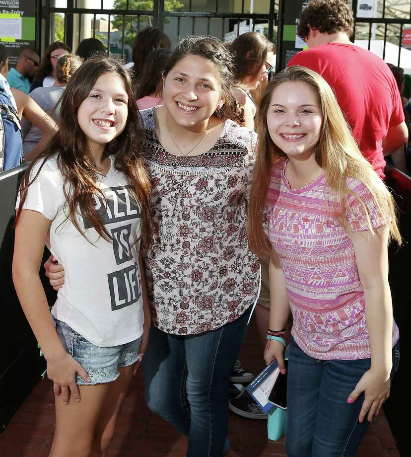 Fans at the Meghan Trainor concert at the Cynthia Woods Mitchell Pavilion in The Woodlands on July 29. Photo: Jon Shapley, Houston Chronicle / © 2015  Houston Chronicle
