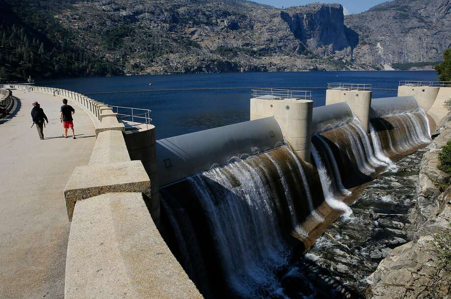 Hetch Hetchy reservoir in Yosemite National Park, California, on Thurs. July 28, 2016.  Mountain Tunnel, a key piece of the Hetch Hetchy water system is at risk of collapse, so this summer, the San Francisco Public Utilities Commission is preparing to repair the 19-mile-long tunnel just outside of Yosemite in a steep, hard-to-access wilderness area. Photo: Michael Macor / The Chronicle 2016