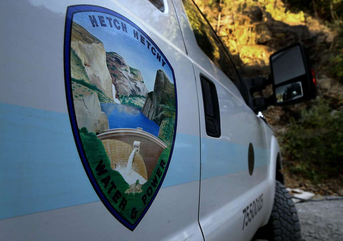 Hetch Hetchy equipment parked at Mountain Tunnel in Yosemite Groveland, Calif. on Thurs. July 28, 2016. The city of San Francisco is not standing down in California's latest water war, joining a lawsuit Thursday against the state for ordering more of the Sierra's cool, crisp flows to go to fish instead of people.