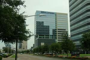 (For the Chronicle/Gary Fountain, June 12, 2013) BBVA Compass' new office building in the Galleria area.