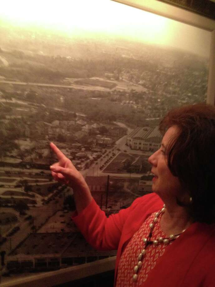 Miki Lusk Norton, co-owner of the Lancaster Hotel, has been researching the hotel's downtown neighborhood for more than 30 years. Photo: Joe Holley / Houston Chronicle