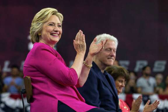 Hillary Clinton on Friday kicked off a post-convention bus tour through battleground states Ohio and Pennsylvania that included a stop at Temple University in Philadelphia.