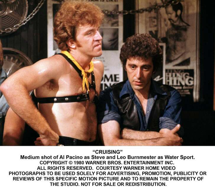 """""""CRUISING"""" - Al Pacino as Steve and Leo Bummester as Water Sport. (c) 1980 Warner Bros. Entertainment Inc. Ran on: 09-05-2007 &quo;Cruising,&quo; William Friedkin's controversial 1980 film, stars Al Pacino (right) with Leo Bummester. Ran on: 09-05-2007"""