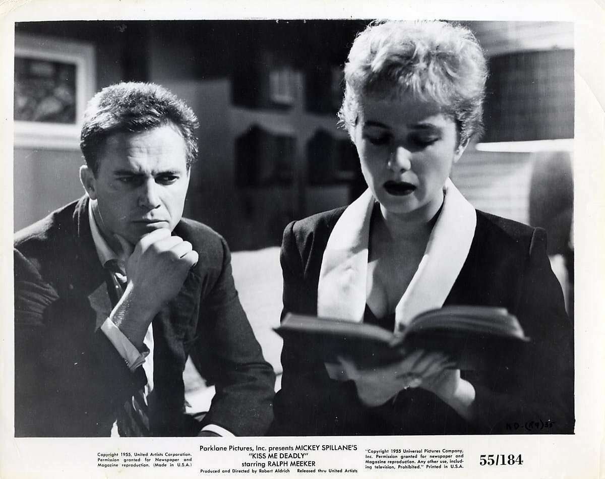KISS ME DEADLY, (Ralph Meeker, Gaby Rodgers are in the picture)