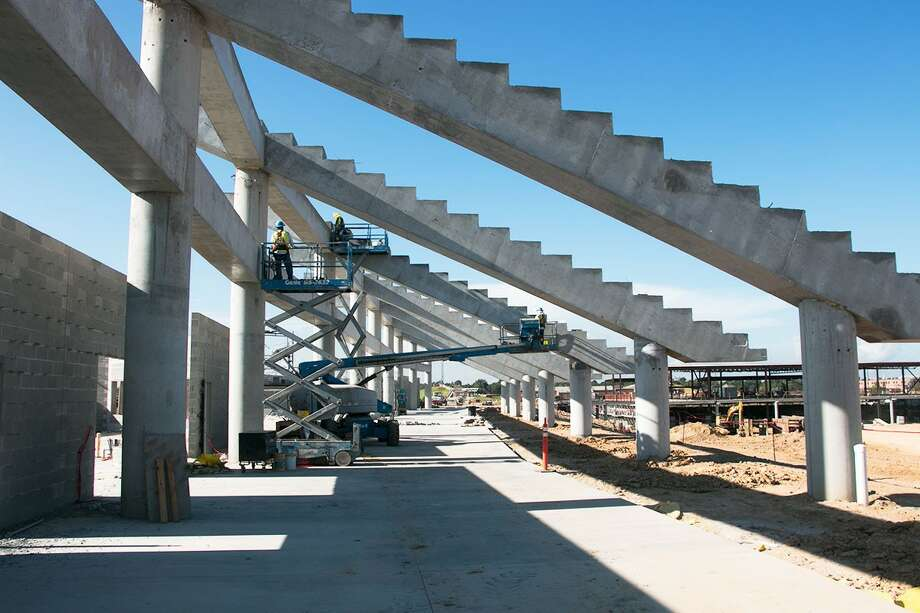 Katy ISD's $62.5 million football stadium, the second-costliest in the state, is currently under construction and scheduled to open for the 2017 football season.  Photo: Photo Courtesy Of Katy ISD