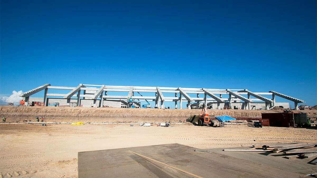 Katy ISD's $62.5 million football stadium, the second-costliest in the state, is currently under construction and scheduled to open for the 2017 football season.