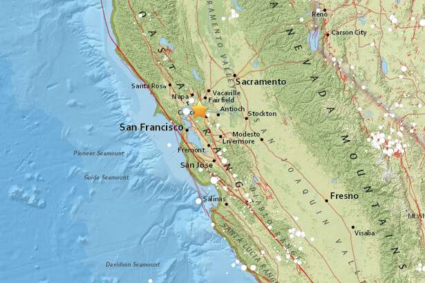 A 2.7-magnitude earthquake struck 2.5 miles northwest of Benicia at 5:53 a.m. on Saturday, July 30, 2016.